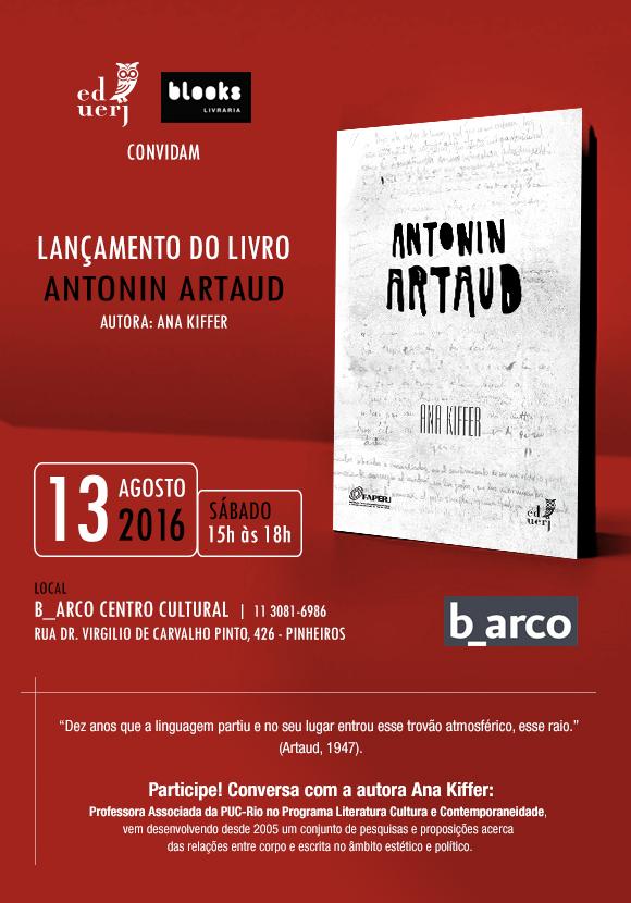 """Lançamento do livro """"Antonin Artaud"""", de Ana Kiffer"""