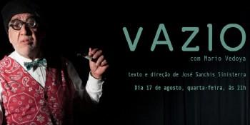 """Mario Vedoya  apresenta """"VAZIO"""", no b_arco"""
