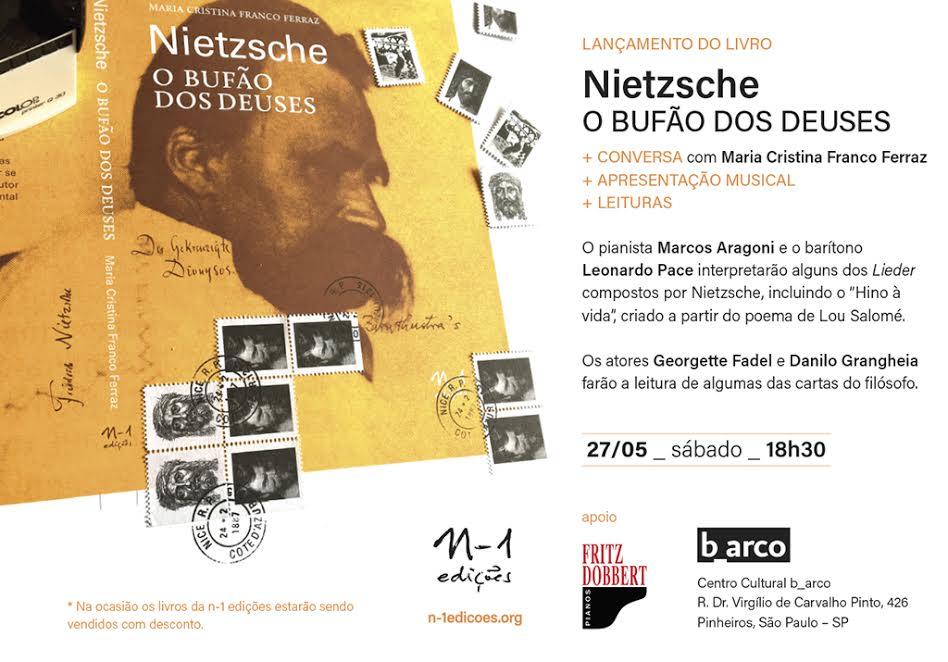"""b_arco recebe o lançamento do livro """"Nietzsche, o Bufão dos Deuses"""""""