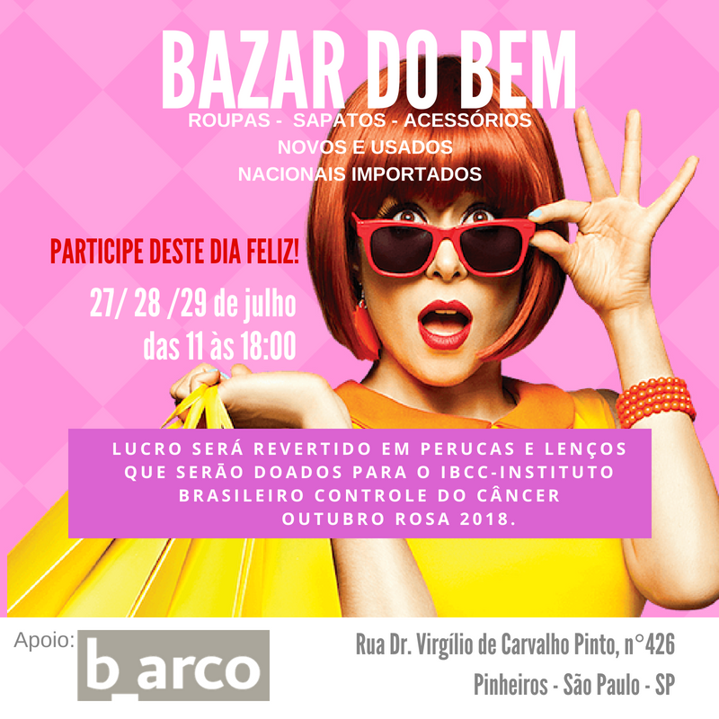 Save the date – Bazar do bem no b_arco