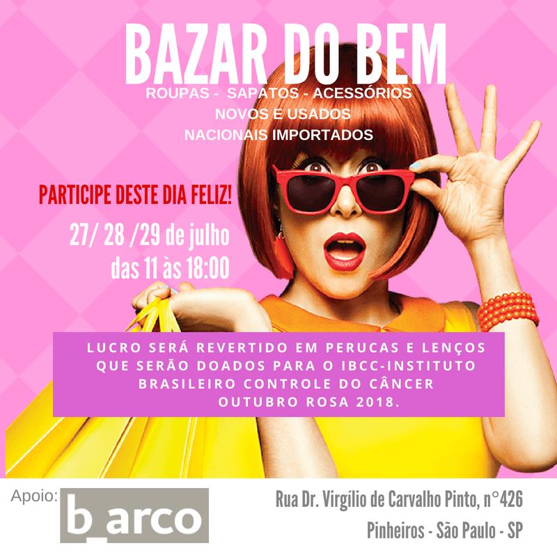 4af0c3cade Save the date – Bazar do bem no b arco
