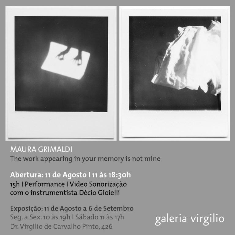 Exposição – Maura Grimaldi