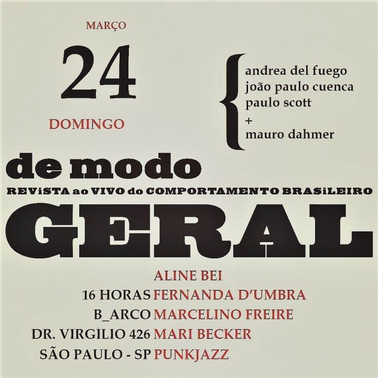 24/03 – De Modo GERAL: Revista ao vivo do comportamento brasileiro