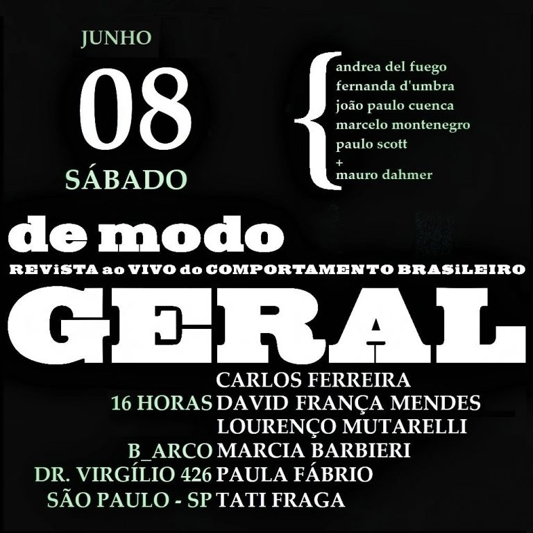 De Modo Geral – Revista ao vivo do comportamento brasileiro