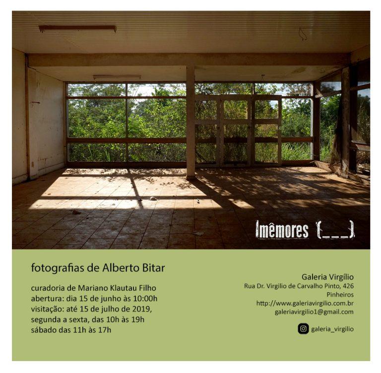"""15/6 a 15/7 – Exposição """" Imêmores ( )"""" de Alberto Bitar"""