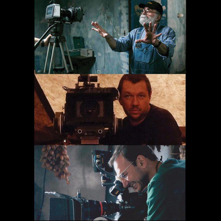 Adrian Teijido, Carlos Ebert e Jacob Solitrenick: Curso de Direção de Fotografia terá convidados consagrados no mercado audiovisual.