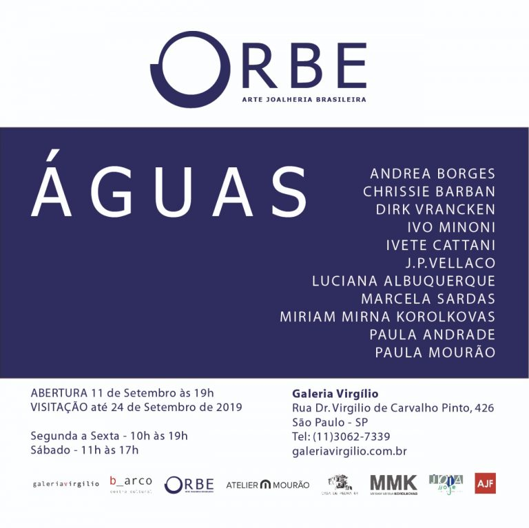 11/9 –  ÁGUAS: Exposição do grupo ORBE – Joalheria Contemporânea Brasileira