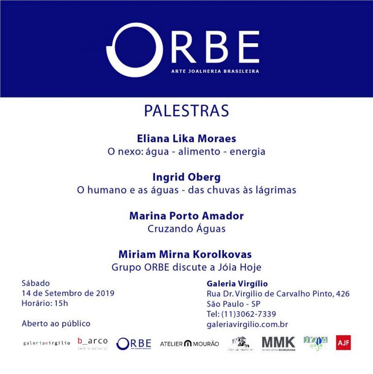 14/9 – Palestra sobre a exposição ÁGUAS, do grupo ORBE – Arte Joalheria Brasileira