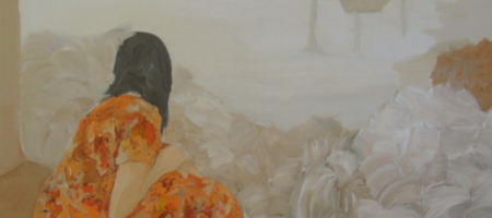 Deborah Paiva, Quintal, 2016, Óleo sobre tela, 130 x 150 cm, R$23.520,00